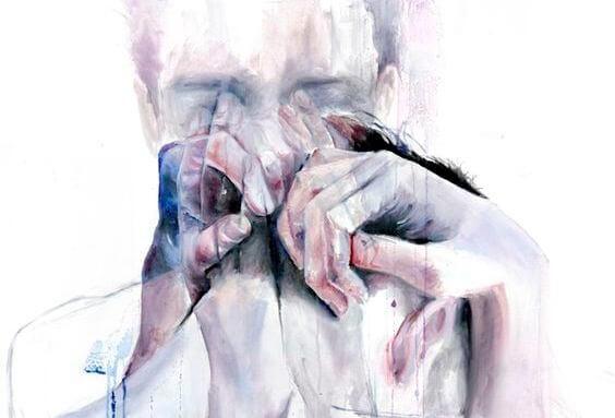 erkek kadın iç içe geçmiş ağlıyor