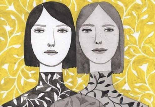 ikiz kadınların ikiz kıyafetleri