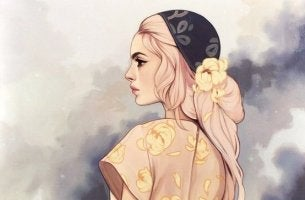 çiçekli-elbiseli-kadın