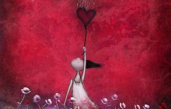 kalpten şemsiye yapmış kadın