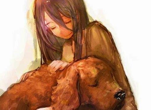 küçük kız ve köpeği