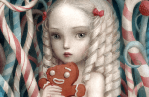 kurabiye yiyen şımarık kız