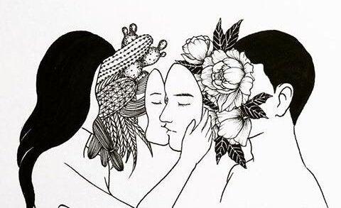 çiçek saklayan maskeler