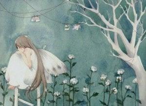 çiçekler ve peri kızı