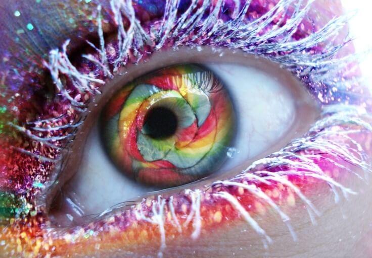 rengarenk göz ve çevresi