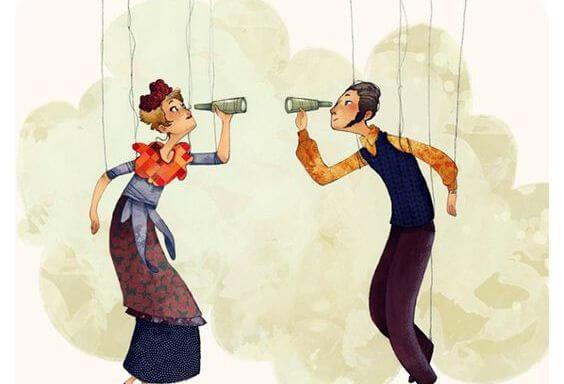 birbirine teleskopla bakan çift