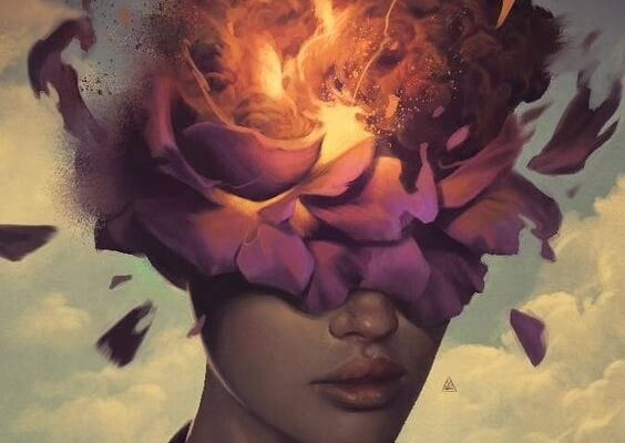 kadın ve güller