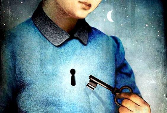 yüreğinde anahtar deliği olan insan