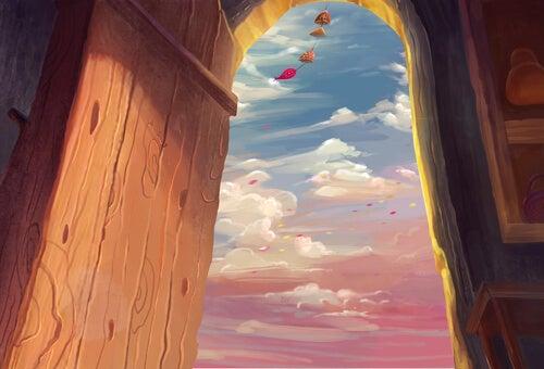 açık kapıdan esen rüzgar