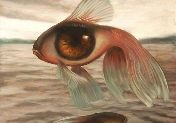 gözlü balık sudan çıkmış