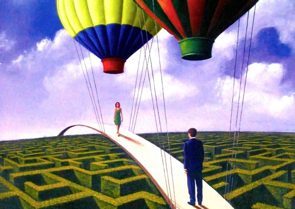 balonlara bağlı köprü