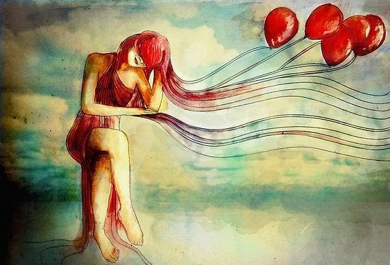 balonlu kadın