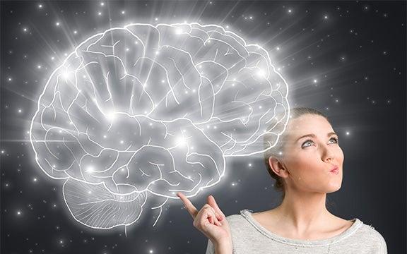 kadın ve parlak beyin