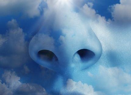 gökyüzü bulutundan burun
