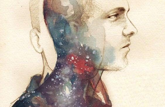 iki yüzlü adamın renkli suratı