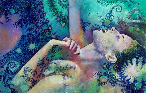 renkli çizim kadın