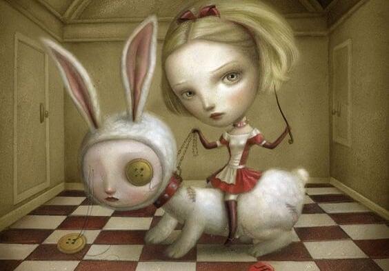 tavşana eziyet eden kadın