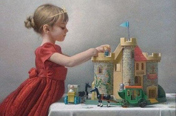 oyun oynayan küçük kız