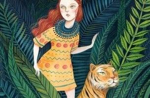 ormandaki kız ve kaplan