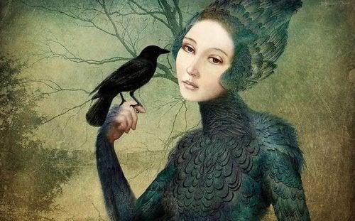 kadın ve kuş