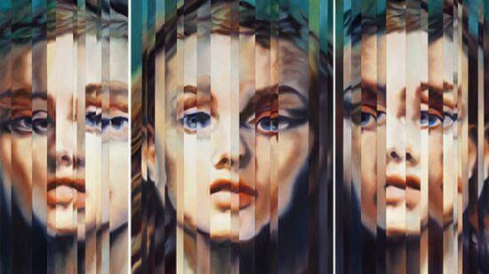 çizgi aynada kadın yüzleri