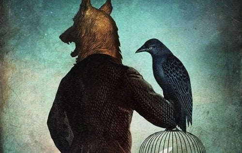 kurt adam ve kuş