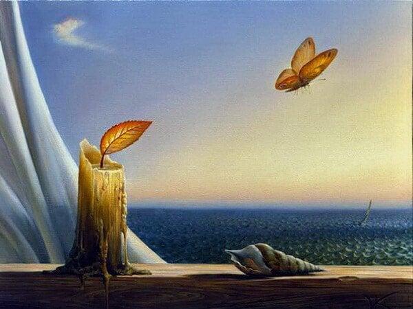 mum ve kelebek