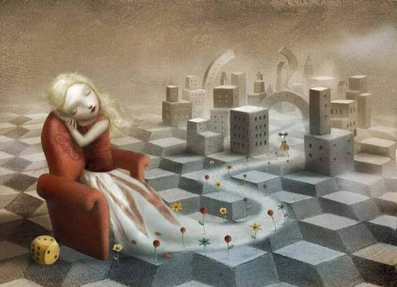 oyuncak odasında oturan kız