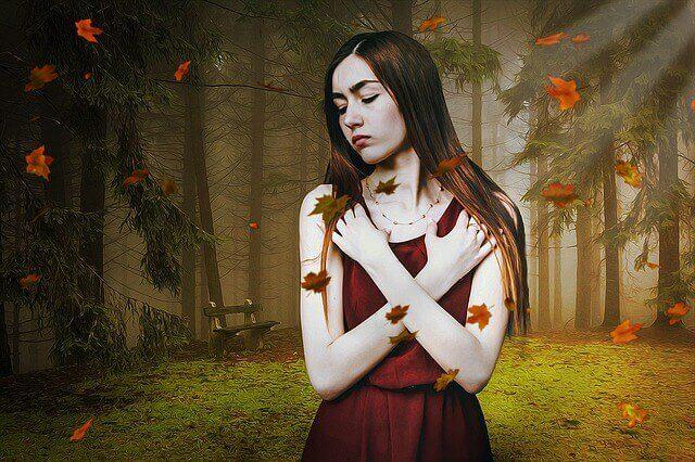 ormandaki özgüvensiz kadın