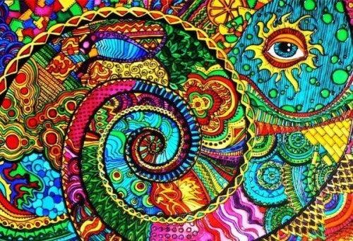 rengarenk göz çizimi