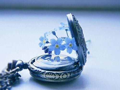 saatin içinden çıkan çiçekler
