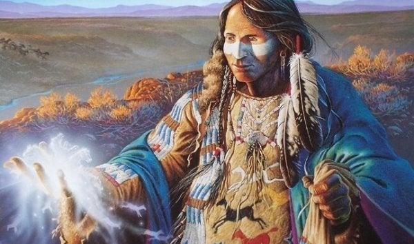 amerikan yerlisi adam