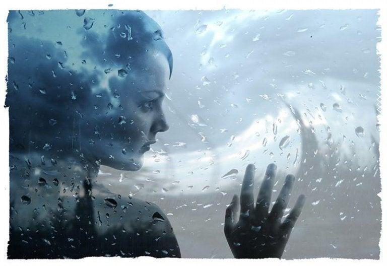 yağmur damlaları kadın