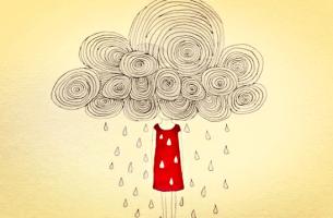bulut saçlı kadın yağmur yağdırıyor