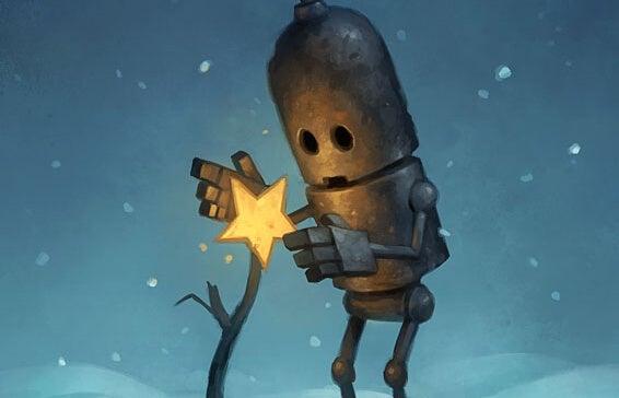 yıldızı tutan robot