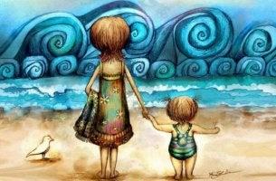 anne-cocuk-deniz-kumsal