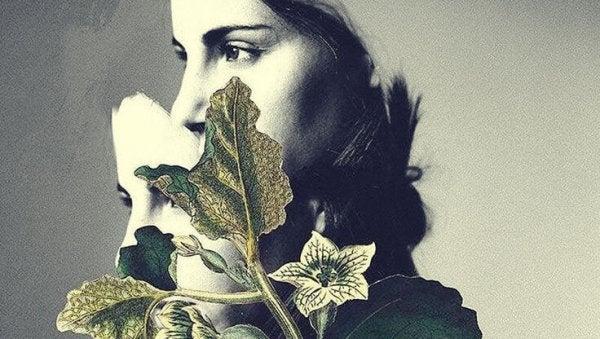 yaprak ve kadın