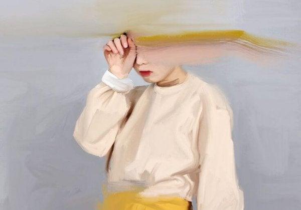 ağlayan çocuğun silinmiş suratı