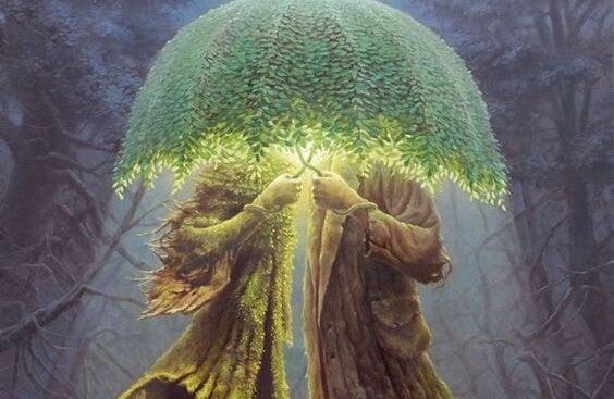 ağaç şemsiye