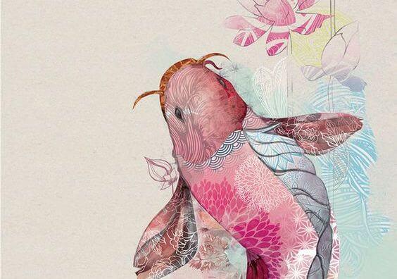 pembe koi balığı