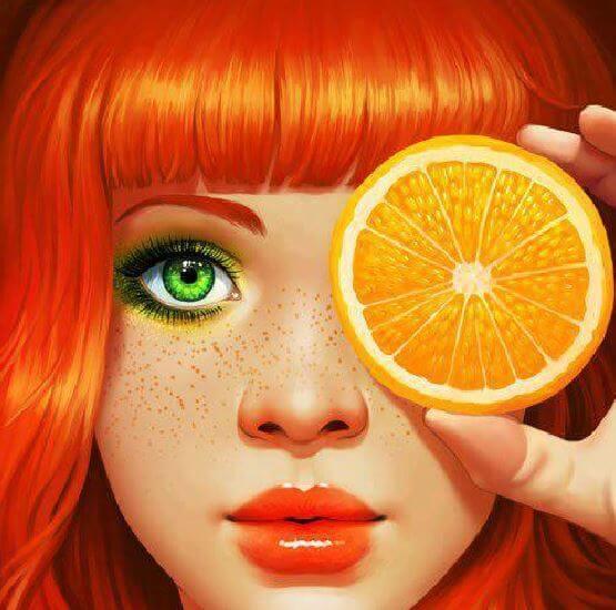 narenciye turuncu kız