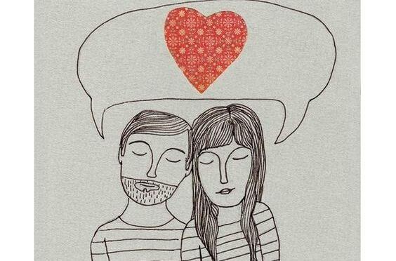 sevgi hakkında düşünen çift