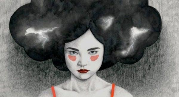 fırtına saçlı kadın