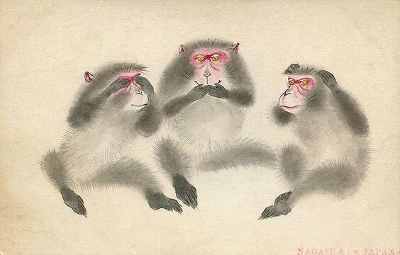 Toshogu Tapınağındaki Üç Bilge Maymunun Öğretisi