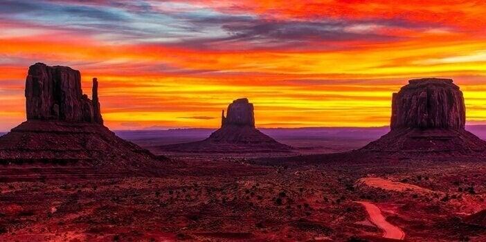 arizon eyaleti çöllerinden bir fotoğraf