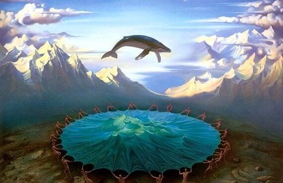 deniz trambolininde balina