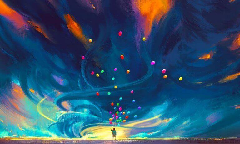 balonlar ve fırtına