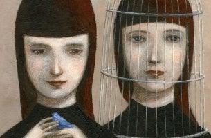 iki kadından biri kafeste