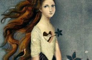 kadının kalbinde kuş var