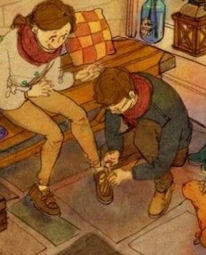 kiz-arkadasinin-ayakkabisini-baglayan-erkek-arkadas